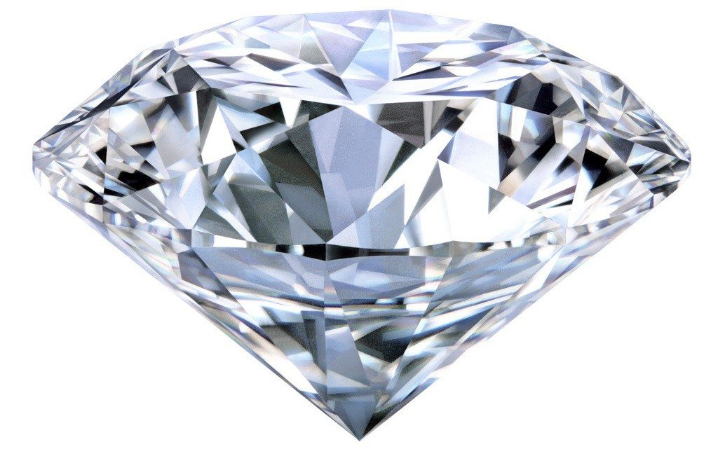 A round cut diamond
