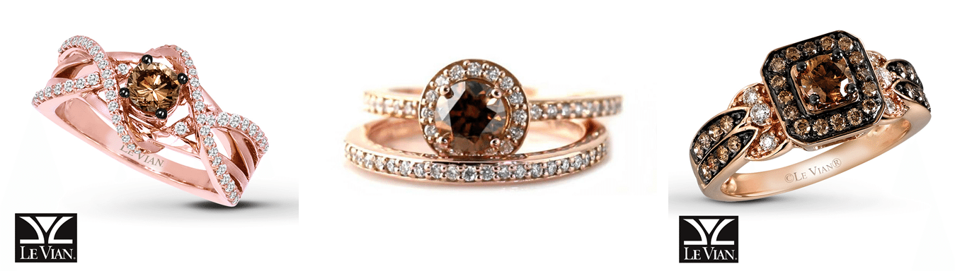 Le Vian Chocolate Wedding Rings