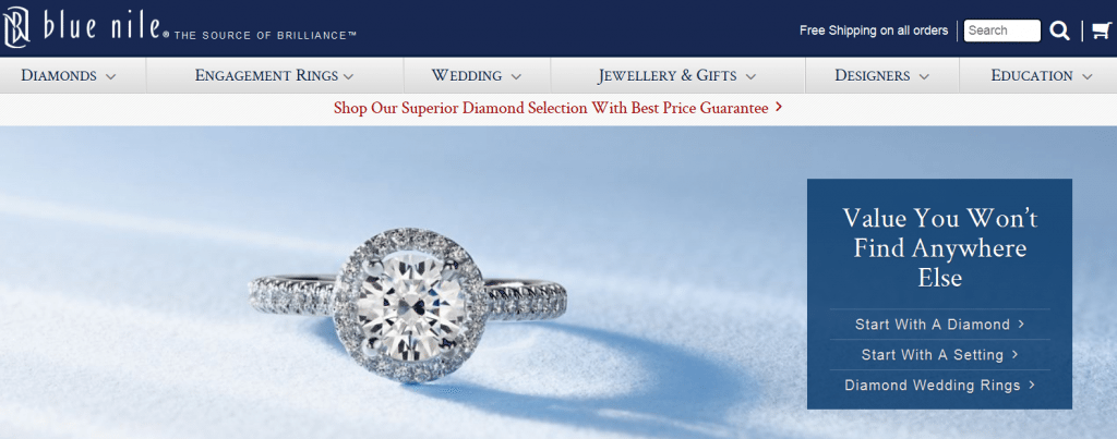 Blue Nile Diamonds Review