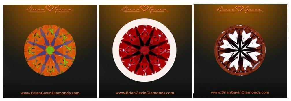 Brian Gavin provides Idealscope and ASET images of its signature diamonds