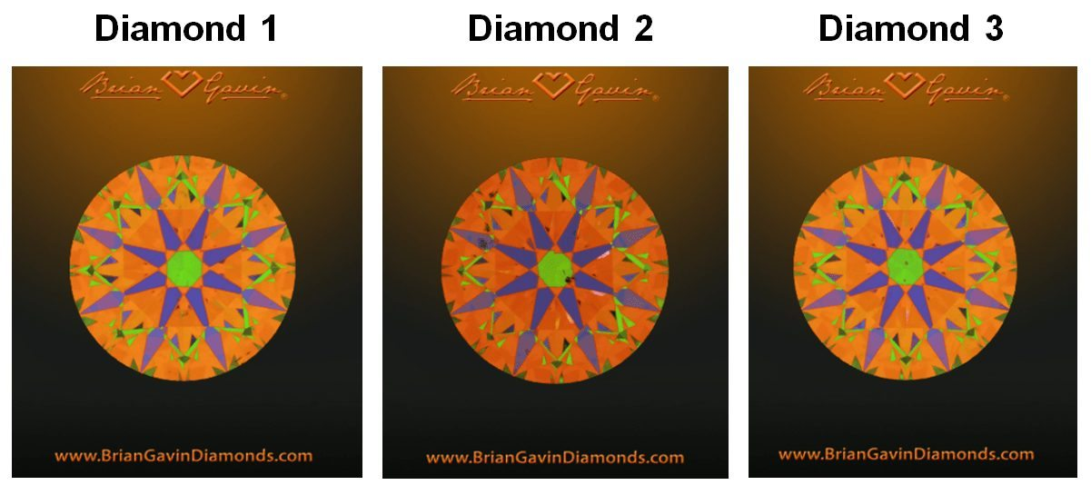 Brian Gavin signature hearts and arrows diamonds ASET images