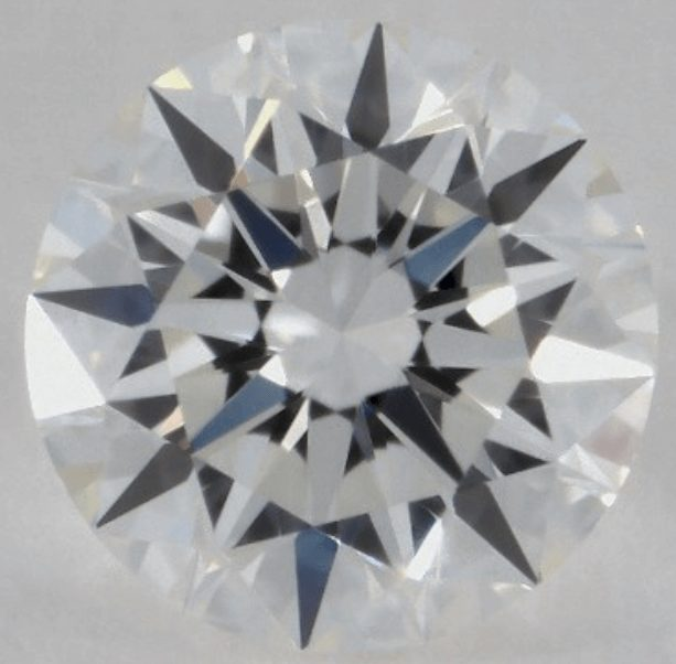 Diamond with Excellent cut grade and Excellent symmetry grade and an appealing appearance