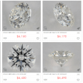 Browsing through diamonds at James Allen