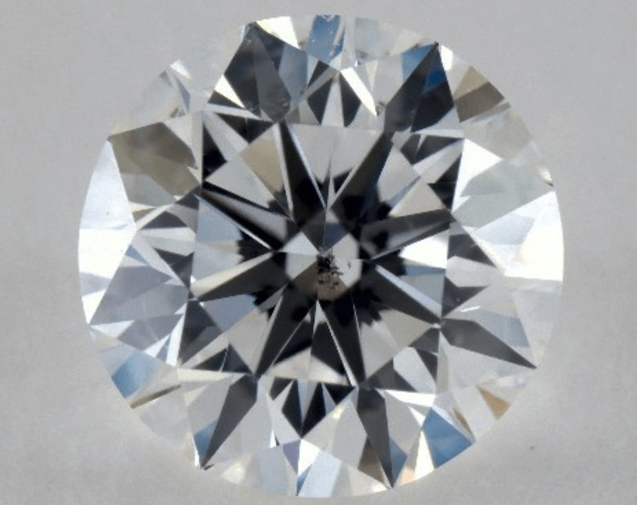 Example of an SI1 diamond that is not eye clean