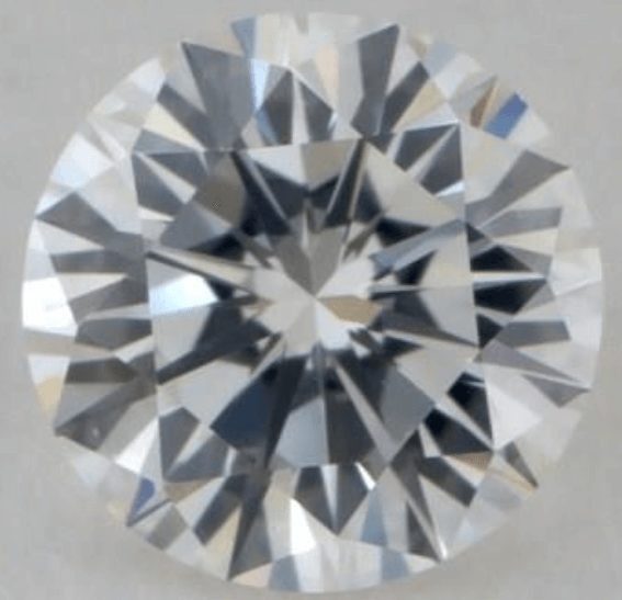 Diamond with Excellent cut grade and Excellent symmetry grade but an unappealing appearance