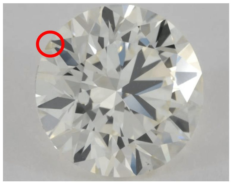 K colored diamond from yet another angle