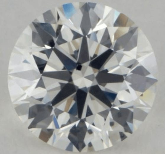 Diamond with a stark black inclusion
