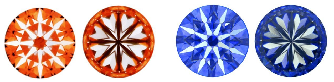 red and blue diamond hearts images