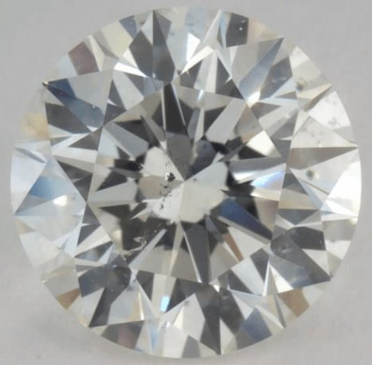 Diamond with a very weak contrasting pattern