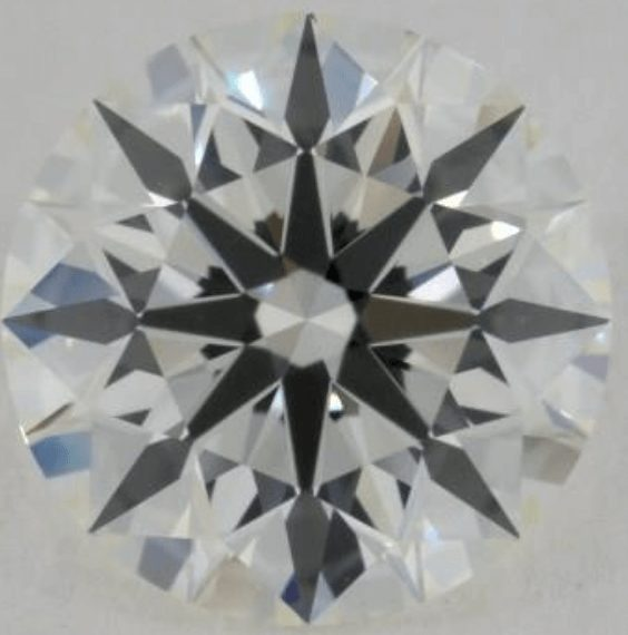 Diamond with an excellent contrast pattern