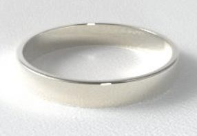 14 White Gold Flat Comfort Fit Wedding Ring