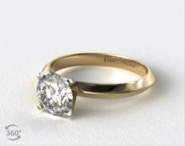 Diamond in a Yellow Gold Ring Setting