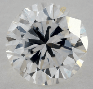 INFERIOR CUT - 1 CARAT G-VS2 GOOD CUT ROUND DIAMOND