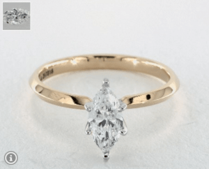 Marquise Diamond Shape 0.9ct G-VS2 Ring