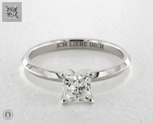 Princess Diamond Shape 0.9ct G-VS2 Excellent Ring
