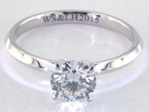 1.00ct J colored SI2 diamond on a Solitaire White Gold Ring