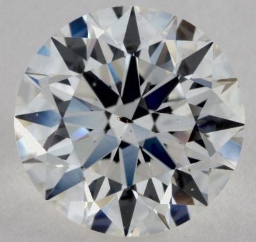 SI1 Diamond with a visible dark inclusion