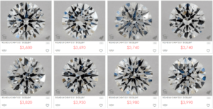 Price of 0.9 G Color Ideal Cut SI1 Clarity Diamonds