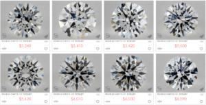 Price of 0.9 G Color Ideal Cut VVS1 Clarity Diamonds