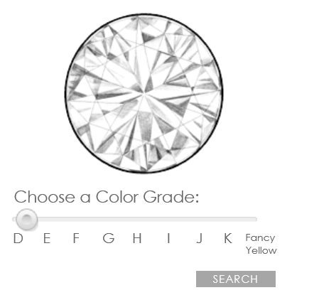 James Allen diamond color simulator
