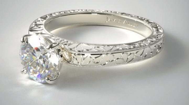 Platinum ring setting