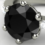 Treated black diamond
