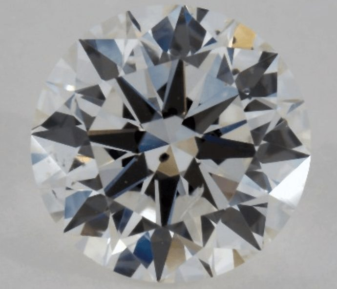 Example of a SI1 diamond that is not eye clean