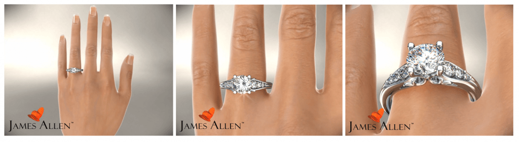 James Allen 3HD animation of diamond with ring setting
