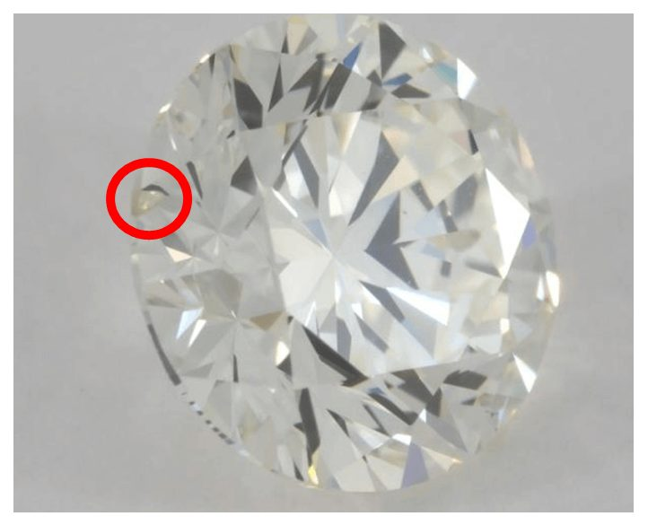 K colored diamond from another angle