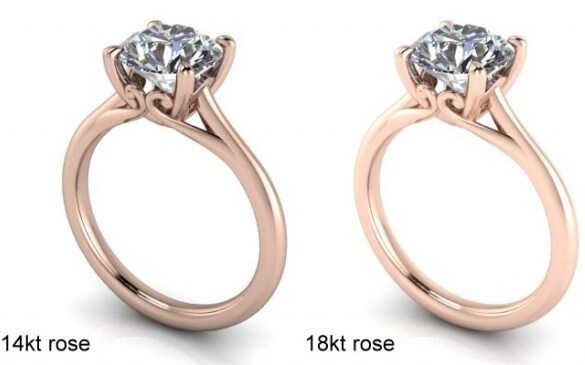 14K rose gold vs 18K rose gold
