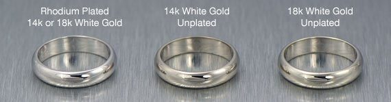 Plated White Gold vs Unplated White Gold