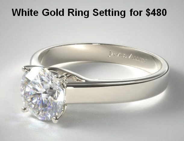 White Gold Solitaire Ring Setting for $480