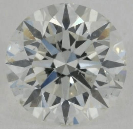 Diamond with a very good arrows pattern but still weak contrast