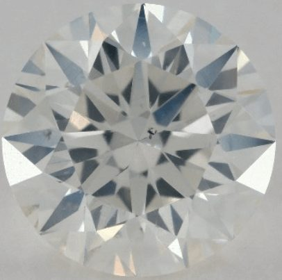 Diamond with a very weak contrast