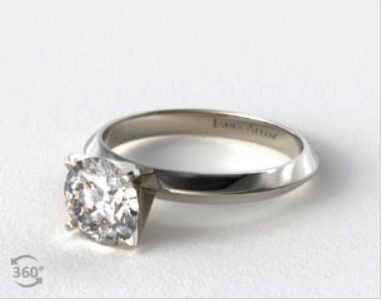 Diamond in a White Gold Ring Setting