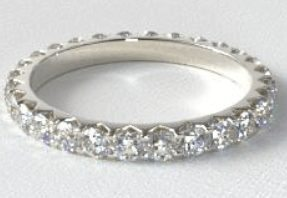 eternity wedding ring - Engagement Ring And Wedding Ring