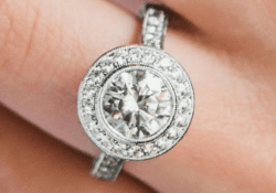 James Allen Halo Round Cut Diamonds