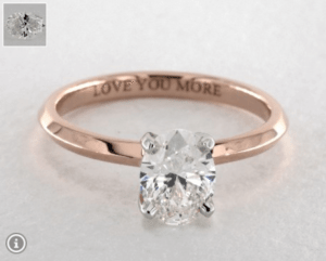Oval Diamond Shape 0.9ct G-VS2 Ring