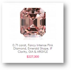 Pink Argyle Fancy Colored Diamonds