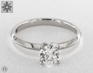 Round Diamond Shape 0.9ct G-VS2 Excellent Ring