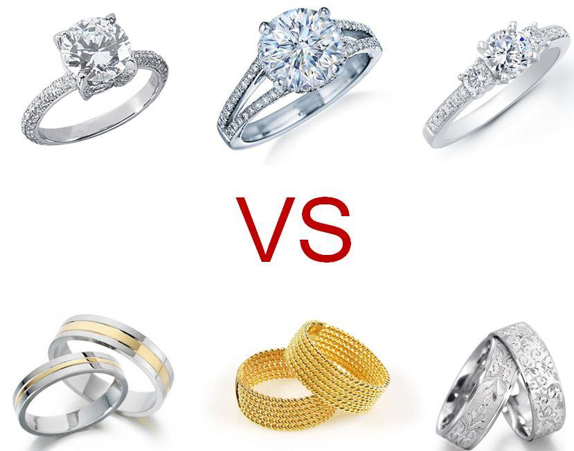 engagement ring vs wedding ring - Wedding Ring Photos