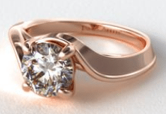 14K Rose Gold Regal Bypass Engagement Ring