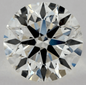 None Fluorescence 1.00 CARAT H-SI1 EXCELLENT CUT ROUND DIAMOND