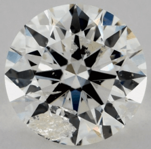 cavity inclusion in 1.00 CARAT G-I1 EXCELLENT CUT ROUND DIAMOND