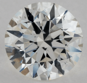 cloud inclusion in 0.90 CARAT G-SI2 EXCELLENT CUT ROUND DIAMOND