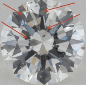 pinpoint inclusion in diamond