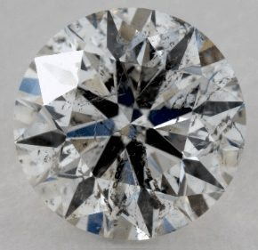 NOT EYE CLEAN 1 CARAT G-SI2 EXCELLENT CUT ROUND DIAMOND