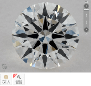 0.90 CARAT G-VVS1 EXCELLENT CUT ROUND DIAMOND