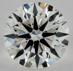 EYE CLEAN 1.01 CARAT G-VS2 EXCELLENT CUT ROUND DIAMOND