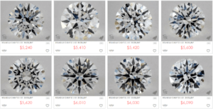 Price of 0.9 G Color Ideal Cut VVS1 Clarity Diamonds